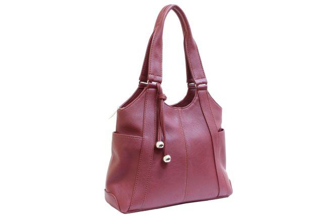 1223 сумка женская бордовая