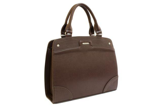 1522 сумка женская коричневая комбинированная