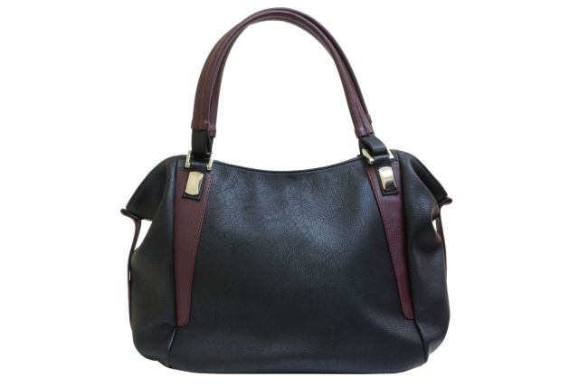 1512 сумка женская черная/бордовая