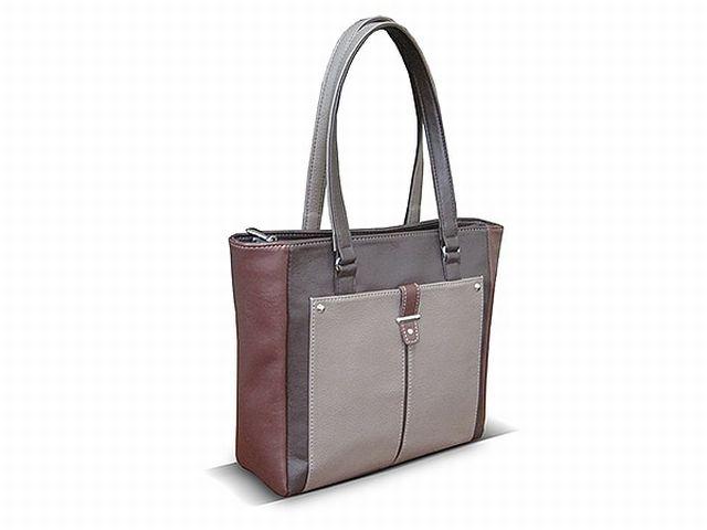 1528 сумка женская коричневая с отделкой
