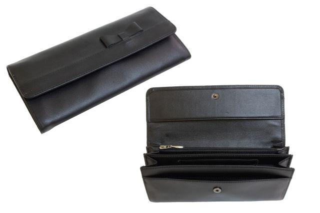 1324н портмоне крок черный