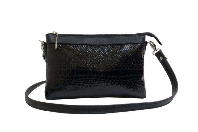 1405 сумка женская черный лак/черная