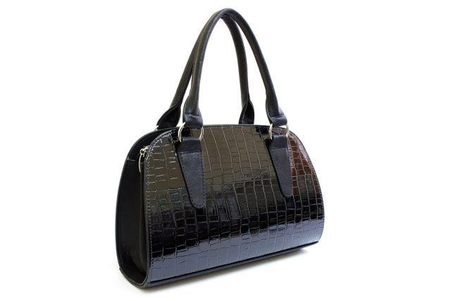 1435 сумка женская черный лак/черная