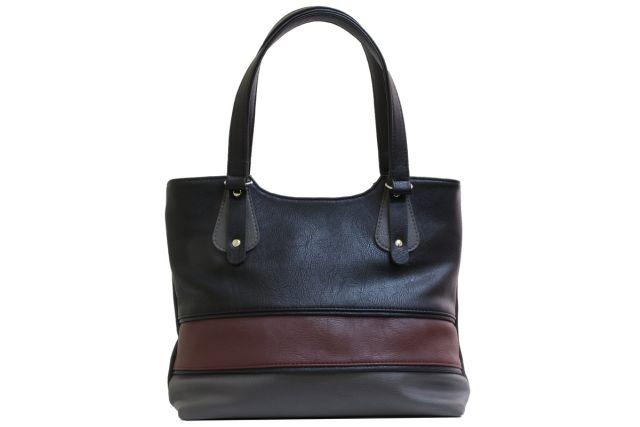 1521 сумка женская черная/серая