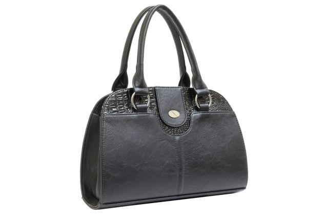 1436 сумка женская черная/черный лак