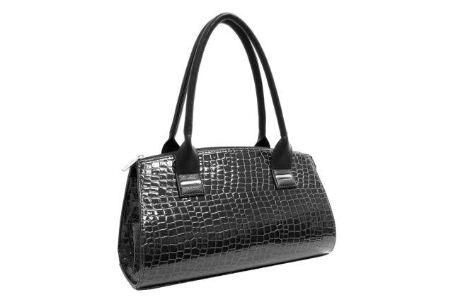 1519 сумка женская черный лак/черная