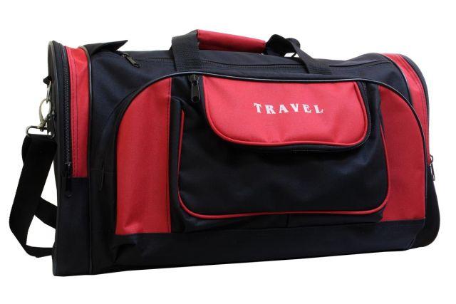 1501к сумка дорожная черная/красная