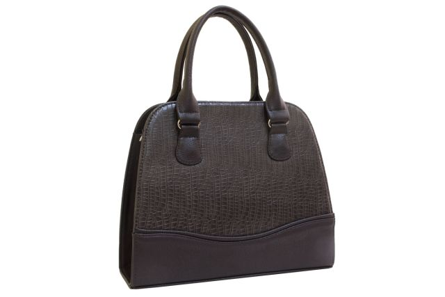 1520 сумка женская коричневый крок/коричневая
