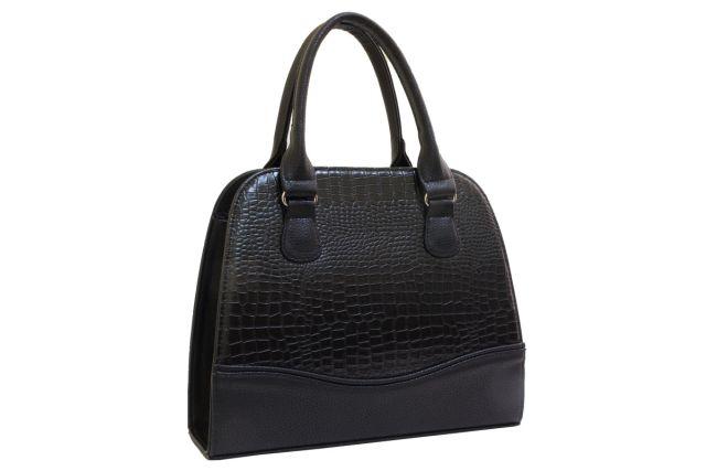 1520 сумка женская черный крок/черная