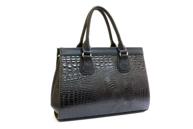 1214 сумка женская черный крок/черный