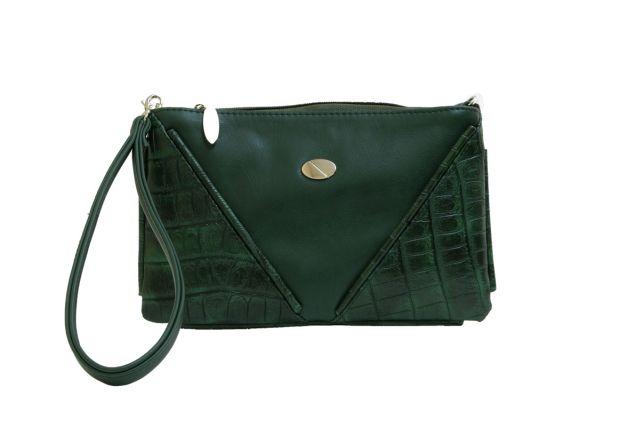 1315 сумка женская зеленая