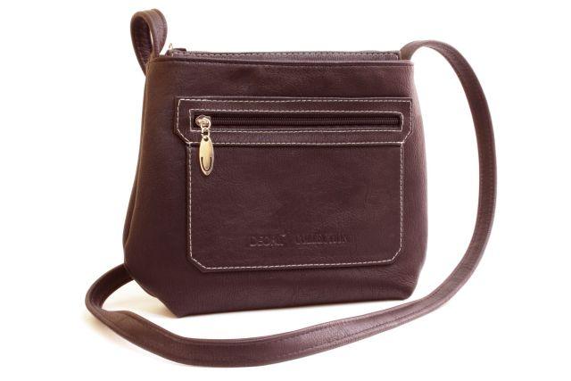 1539 сумка женская коричневая