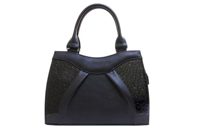 1137 сумка женская черная/черный лак
