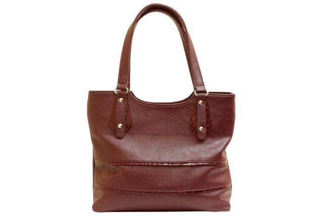 1521 сумка женская бордовая с отделкой