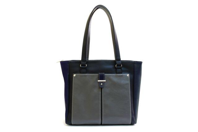 1528 сумка женская черная/серая/синяя
