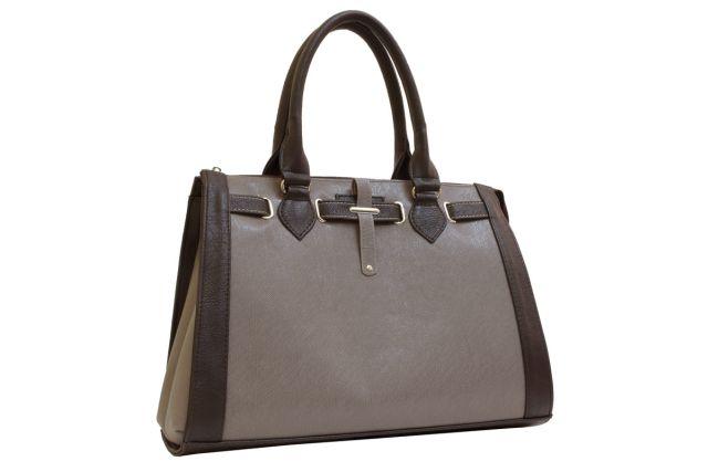 1425 сумка женская коричневая комбинированная