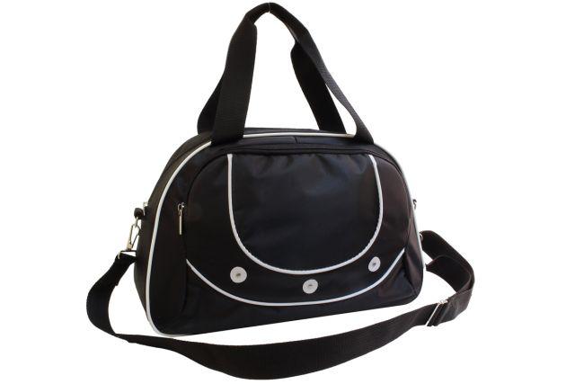 1328к сумка спортивно-дорожная черная