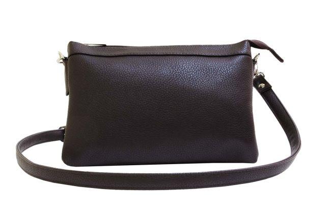 1405 сумка женская коричневая