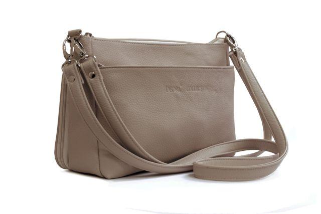 1608 сумка женская темно-бежевая