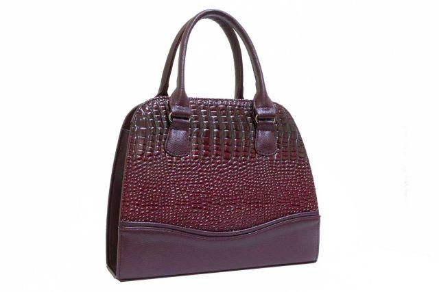 1520 сумка женская бордовый лак/бордовая