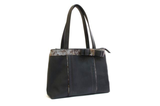 1306 сумка женская черная/коричневые цветы