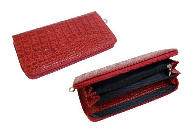 1601н портмоне красный крок