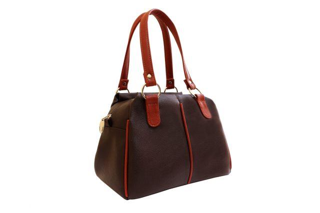 1616 сумка женская коричневая