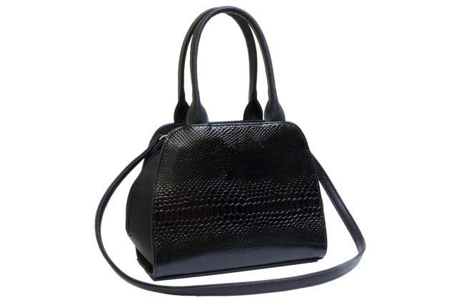 1615 сумка женская черный лак