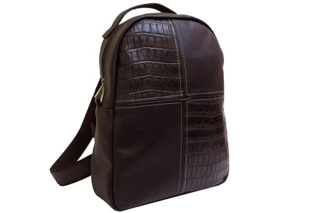 1532 рюкзак коричневый комбинированный