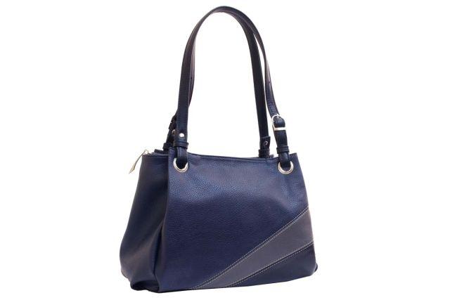 1440 сумка женская синяя с отделкой