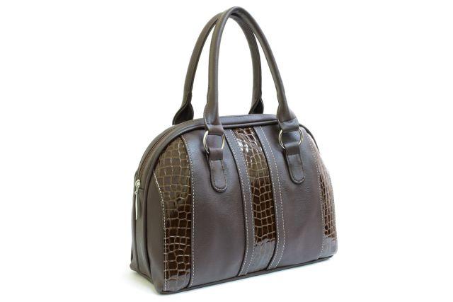 1617 сумка женская коричневая