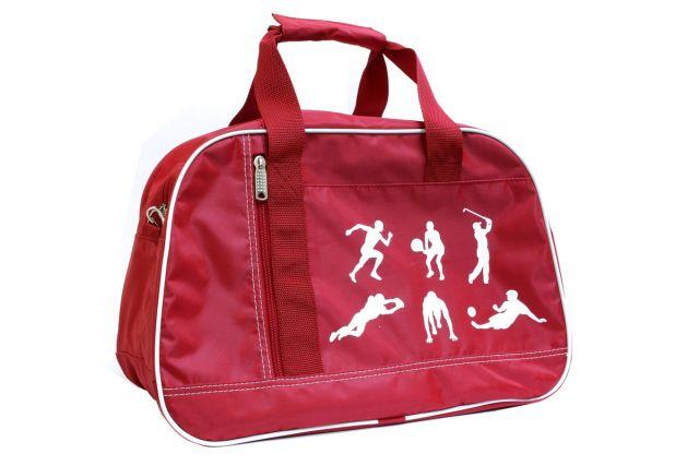 1444к сумка спортивно-дорожная красная