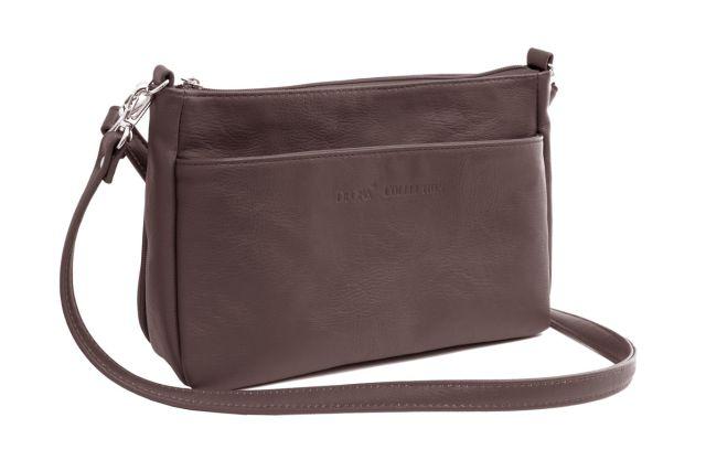 1608 сумка женская коричневая