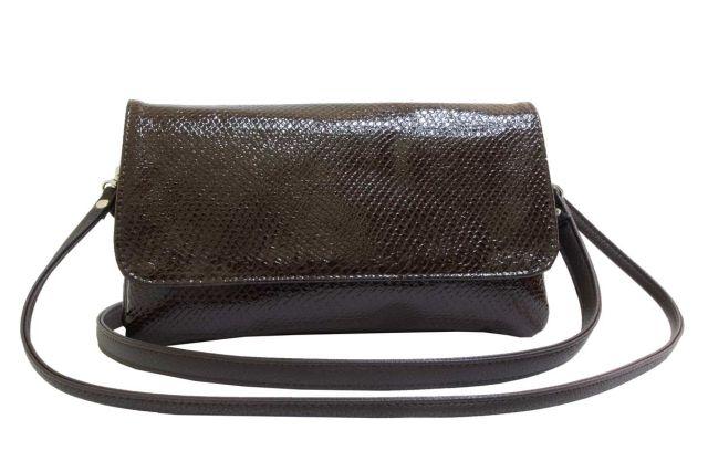 0954 сумка женская коричневый лак