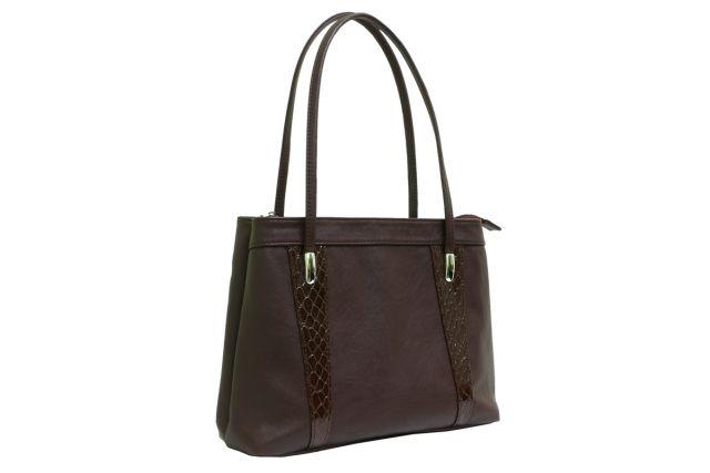 1623 сумка женская коричневая