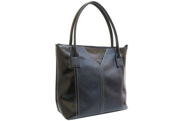 1542 сумка женская черная с отделкой