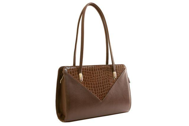 1624 сумка женская коричневая