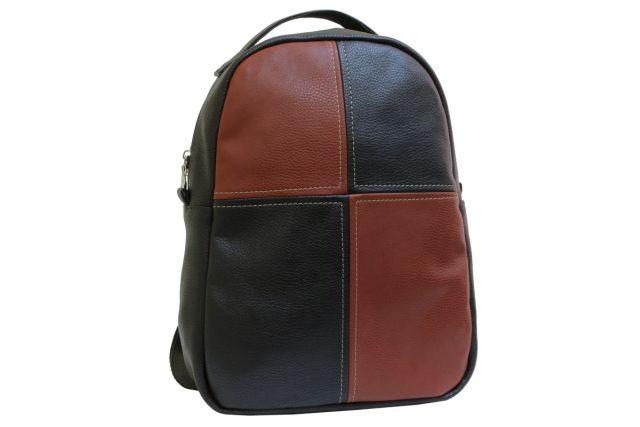 1532 рюкзак черный/рыжий