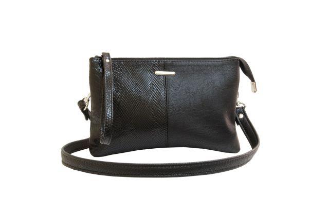 1626 сумка женская черная с отделкой