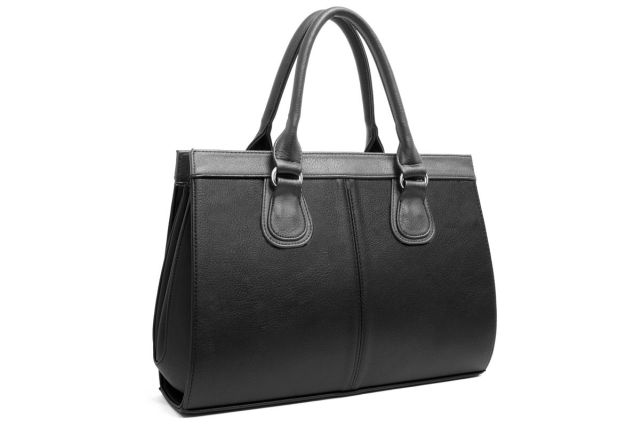 1214 сумка женская черная/серая