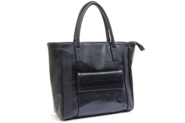 1527 сумка женская черный крок/черная