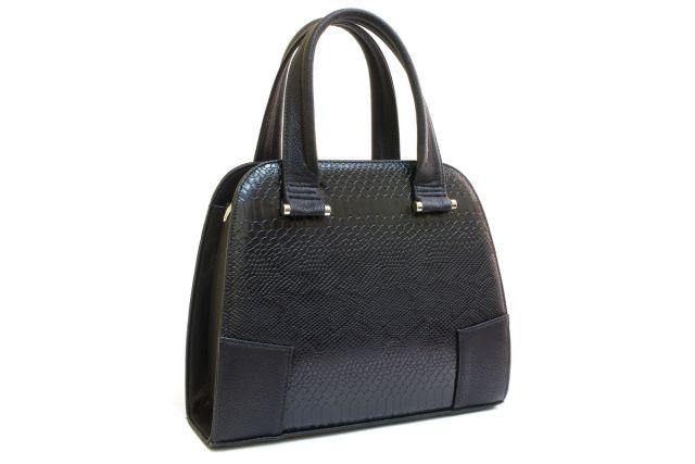 1634 сумка женская черный крок