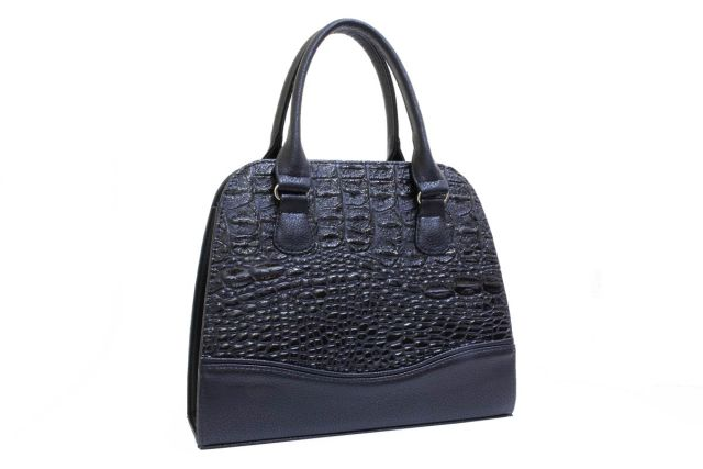 1520 сумка женская черный лак/черная