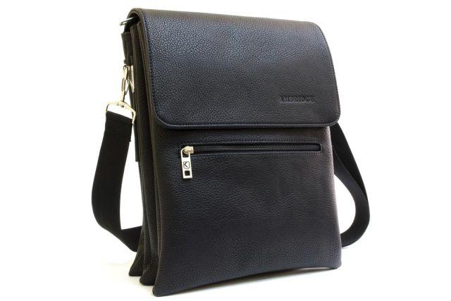 1636 сумка мужская молодежная черная