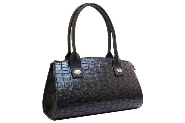 1519 сумка женская черный крок