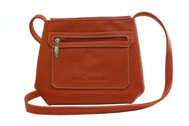 1539 сумка женская рыжая