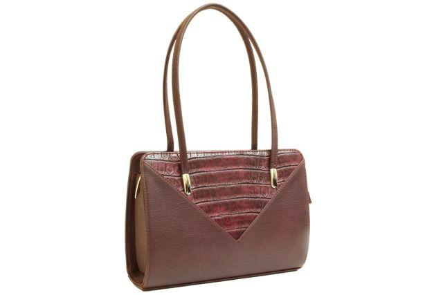 1624 сумка женская бордовая
