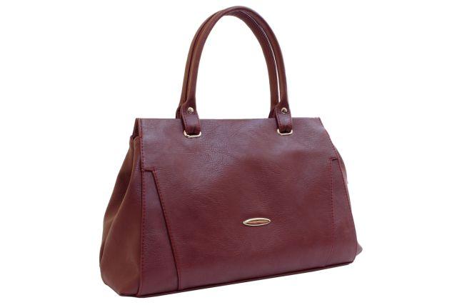 1637 сумка женская бордовая