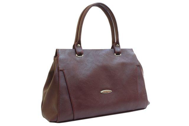 1637 сумка женская коричневая