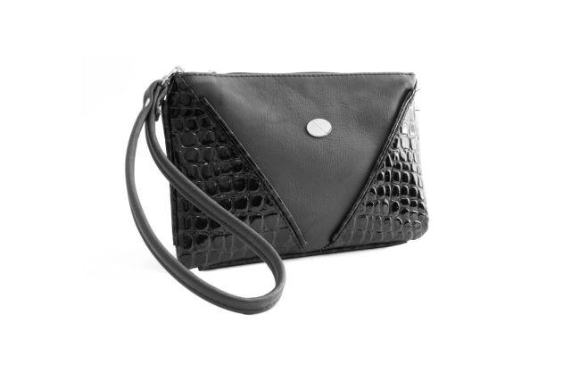 1315 сумка женская черная/черный лак